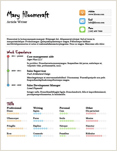17 Infographic Resume Templates [Free Download]