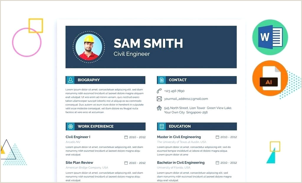 Professional Cv format Civil Engineers Resume Template Docx