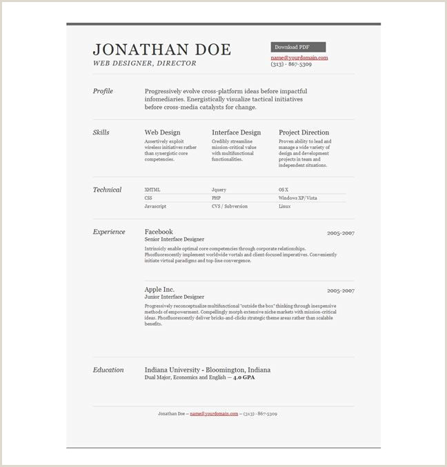 Professional Cv format Download Pdf 10 Free Professional HTML & Css Cv Resume Templates