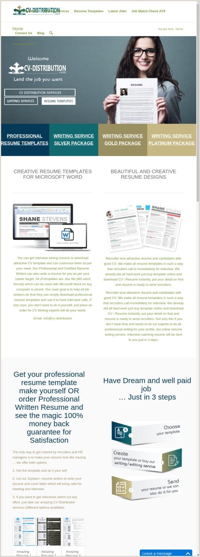 Professional Cv format Dubai Mix · Search Domain · Cv Distribution