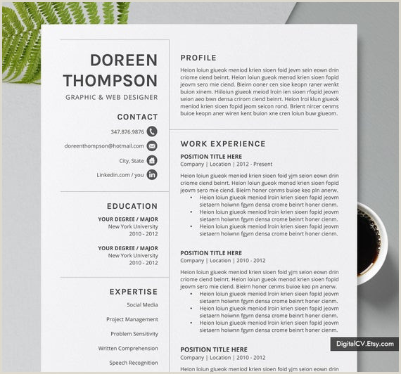 Professional Cv format Editable 2019 Simple & Professional Resume Template Cv Template 2 Page 3 Page Cover Letter Template Ms Word Resume Editable Resume the Doreen