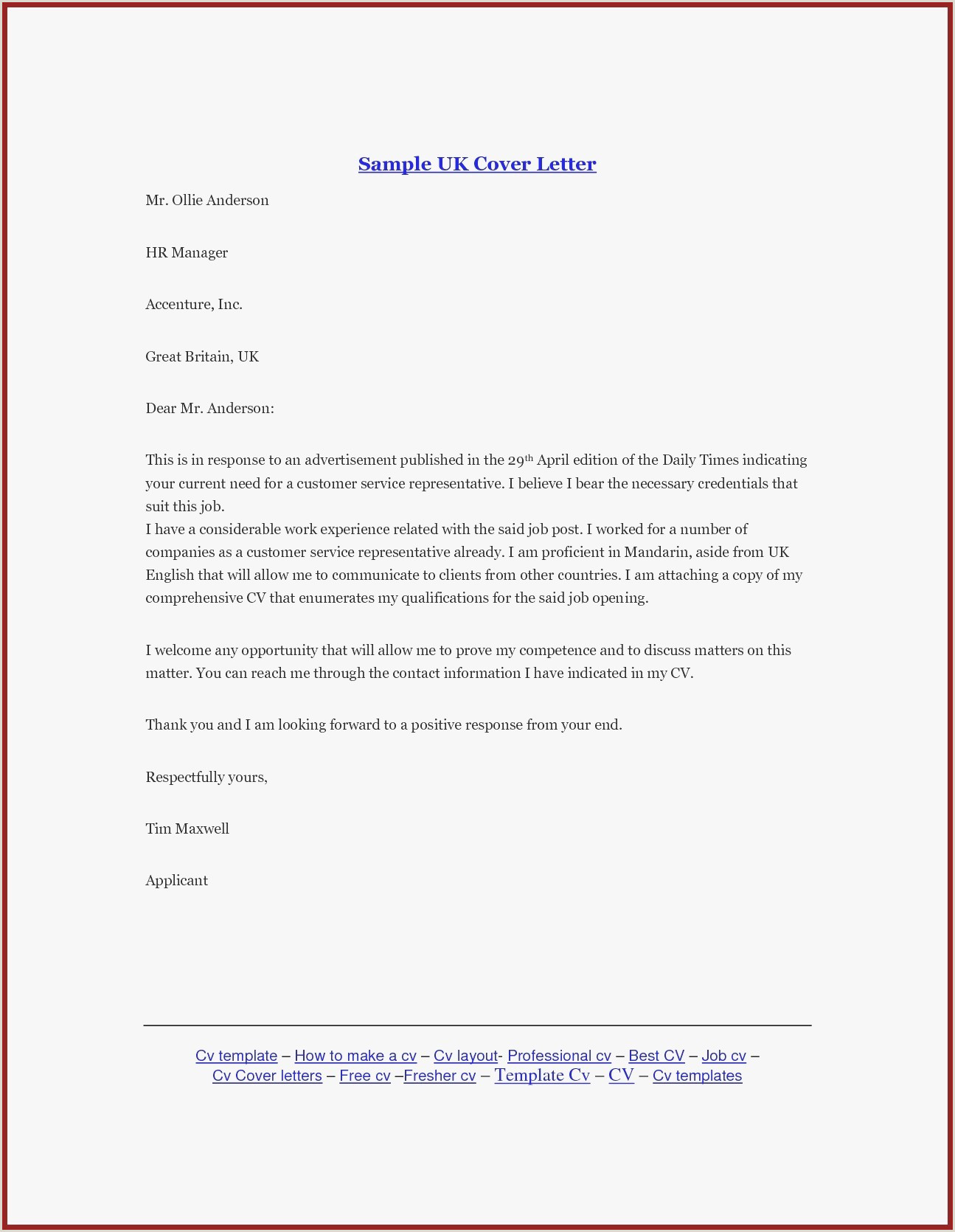 Professional Cv format for A Bank Job New Job Letter Template