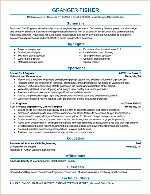 Professional Cv format for Civil Engineers Achievement In Resume for Fresher