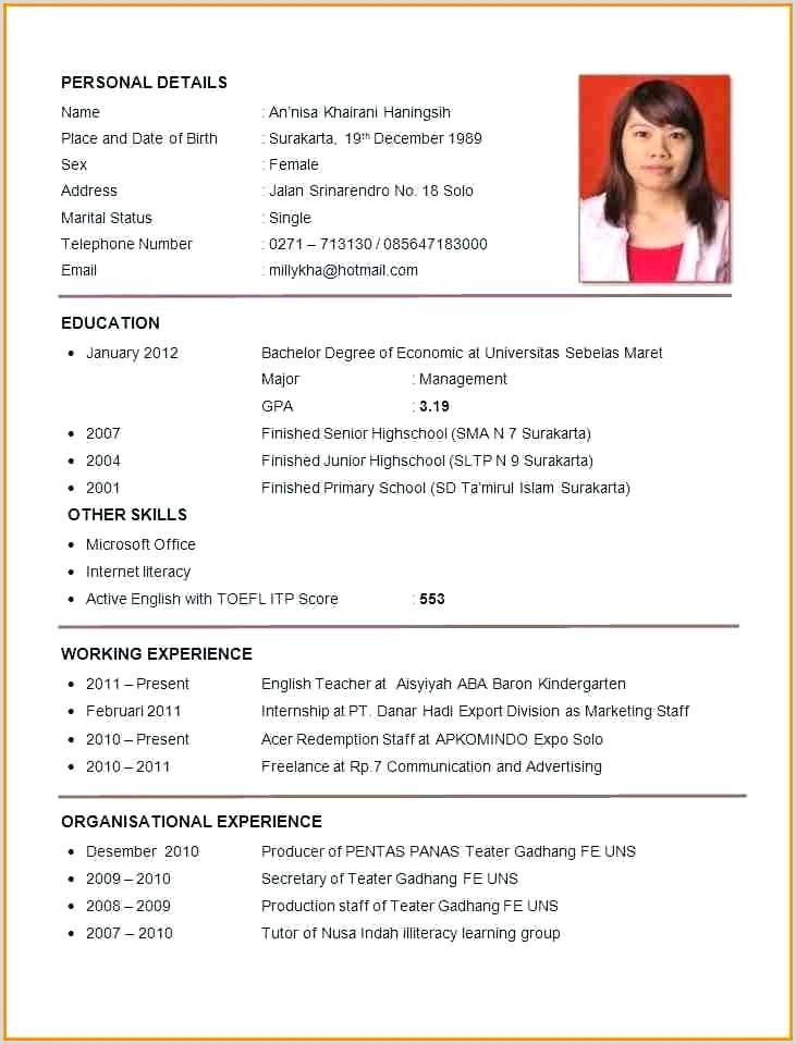 English Cv Template Teacher Format Resume Sample And Samples