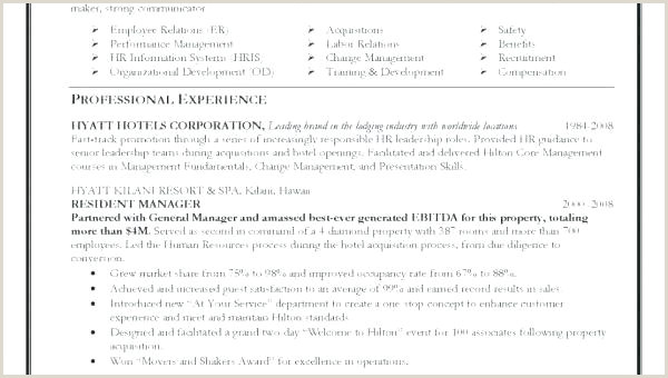 Professional Cv format for Hotel Cv Template for Hospitality – Knowit