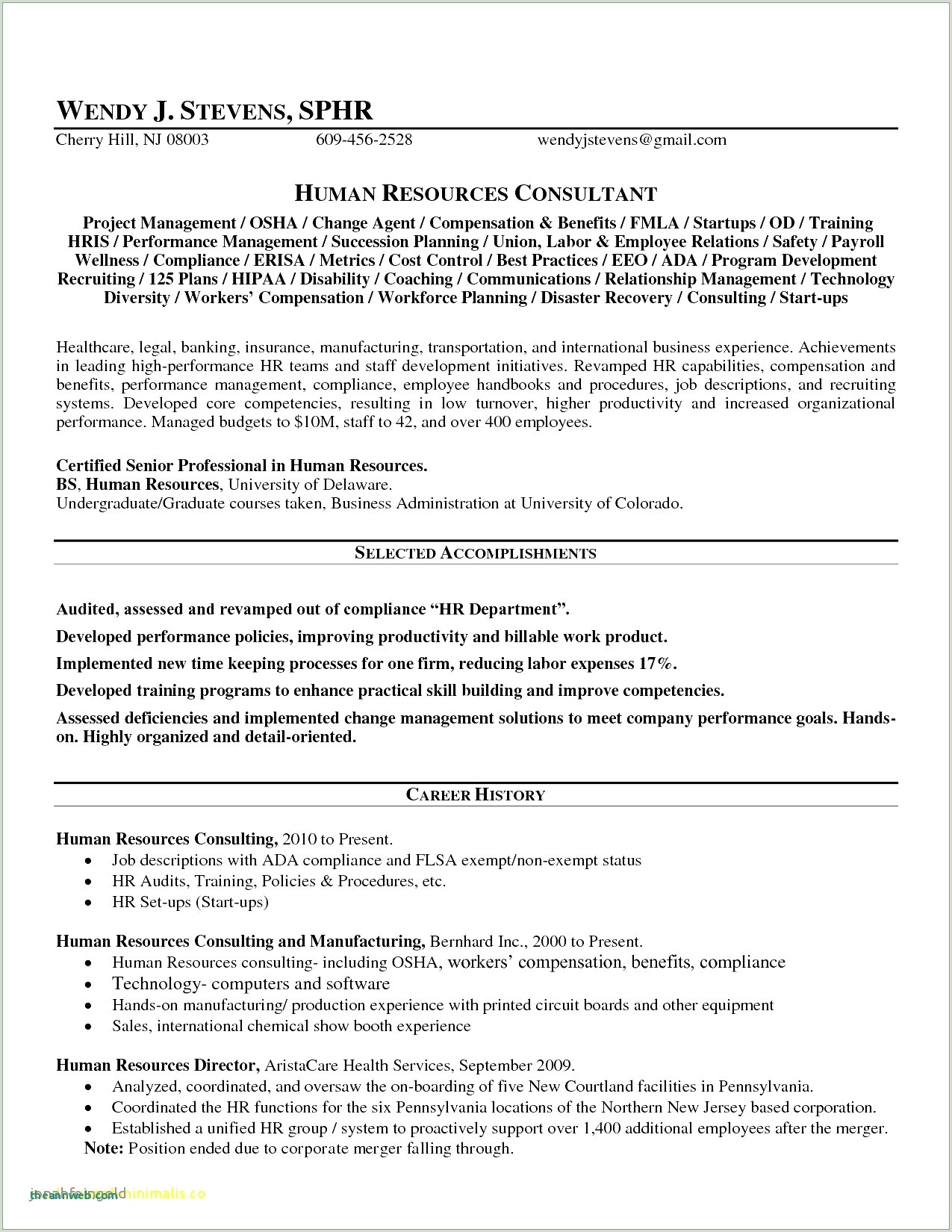 Professional Cv format for Hr Manager Ui Developer Resume Sample