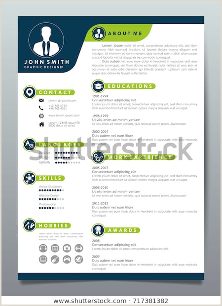 Image vectorielle de stock de Resume Design Template
