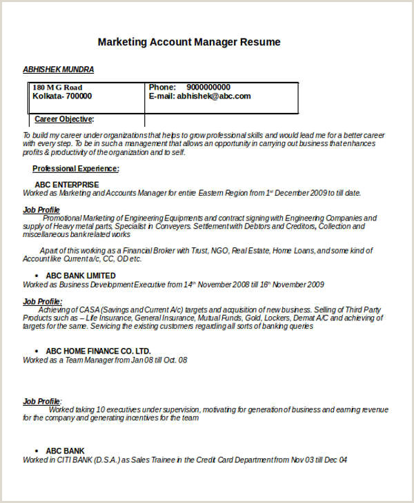 24 Best Marketing Resume Templates PDF DOC