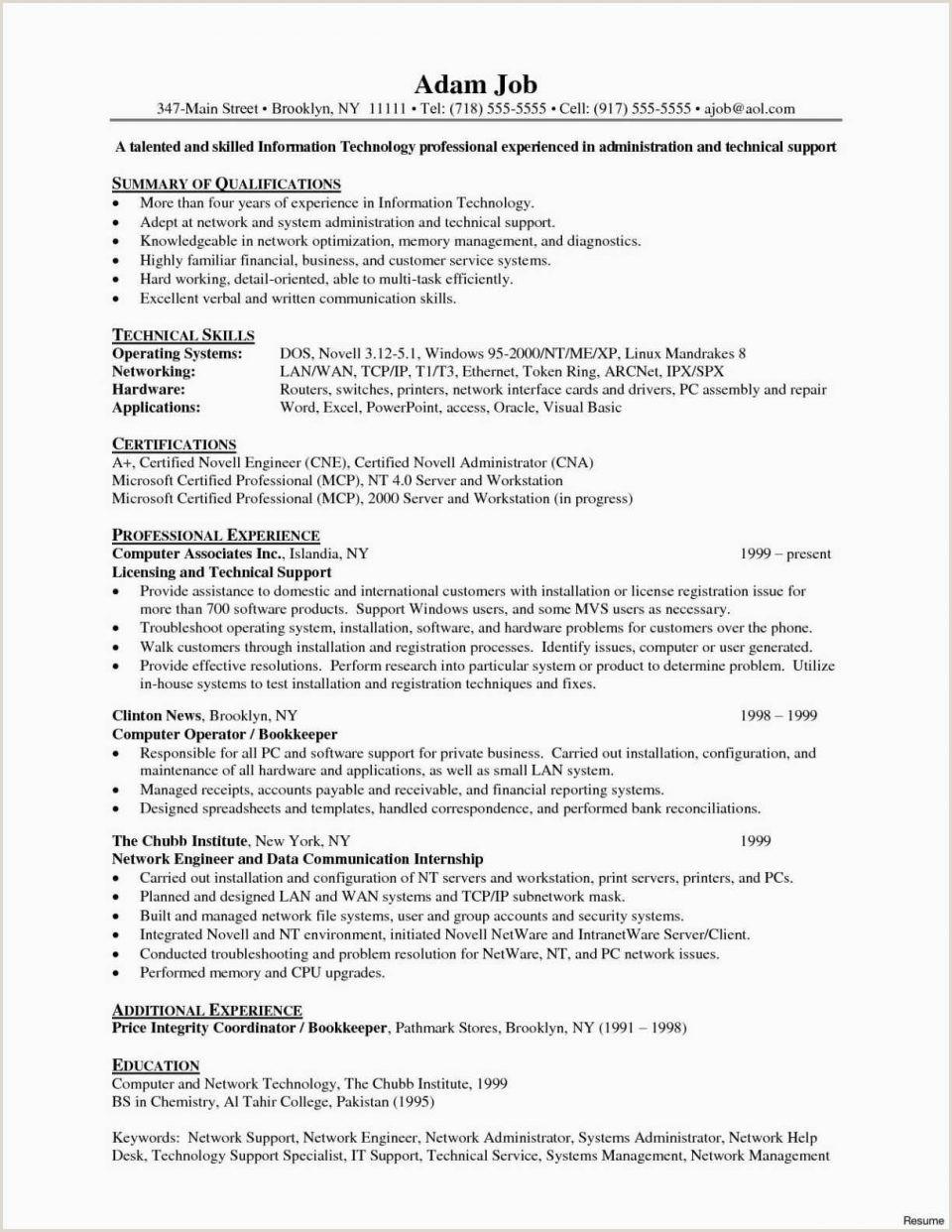 Professional Cv format for Network Engineer 38 Junior Network Engineer Resume Riverheadfd