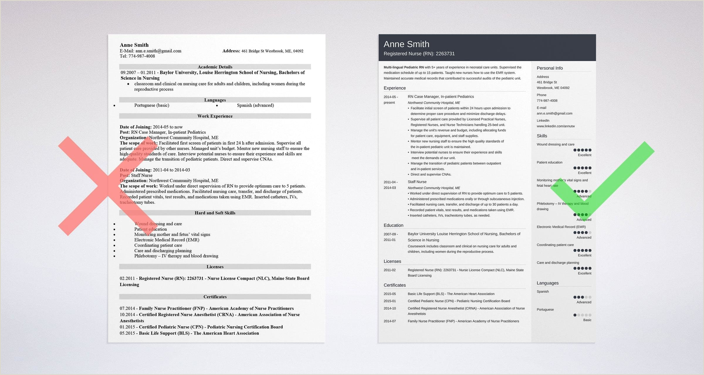 Professional Cv format for Nurses Nursing Resume Template & Guide [examples Of Experience