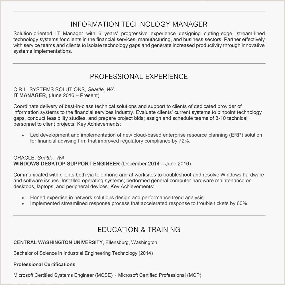 Professional Cv format for Telecom Engineer It Manager Job Description Resume Cover Letter Skills
