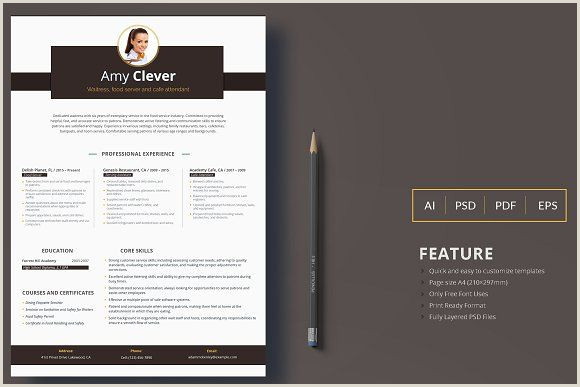 Professional Cv format for Waiter Resume Templates & Design Printable Resume for Waitress