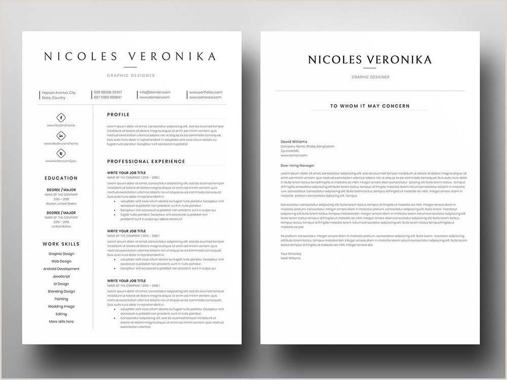 Free e Page Word Resume with Cover letter by Andy Williams
