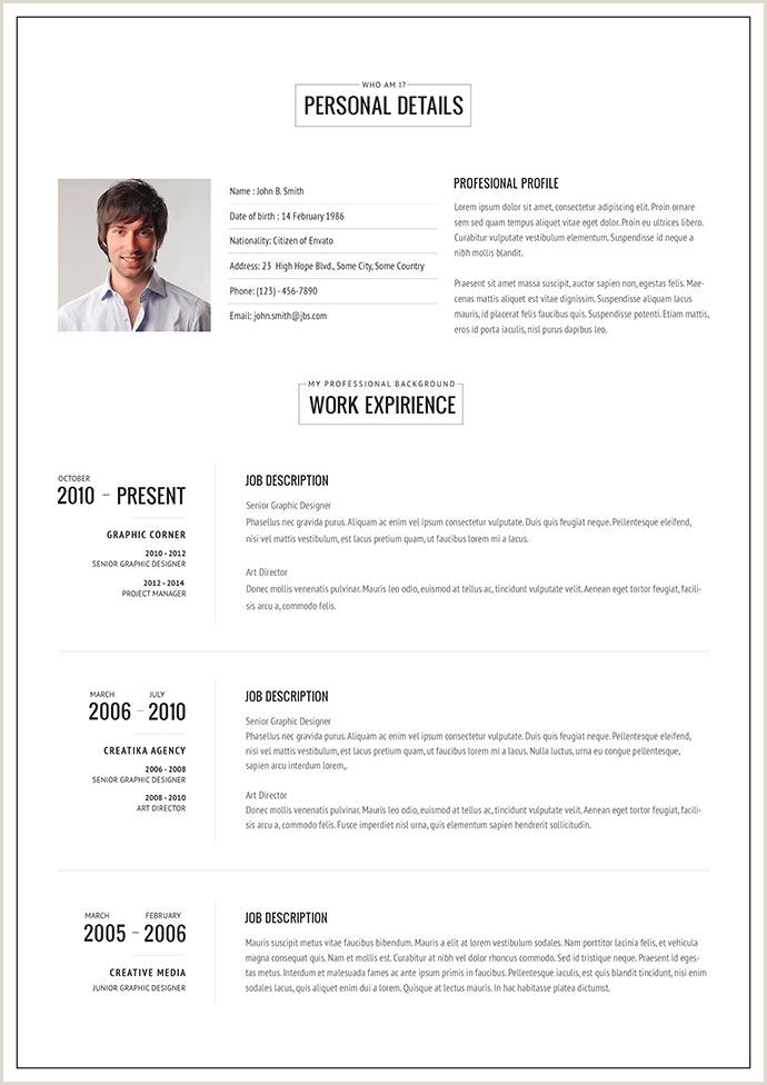 20 Intriguing line HTML Resume Templates