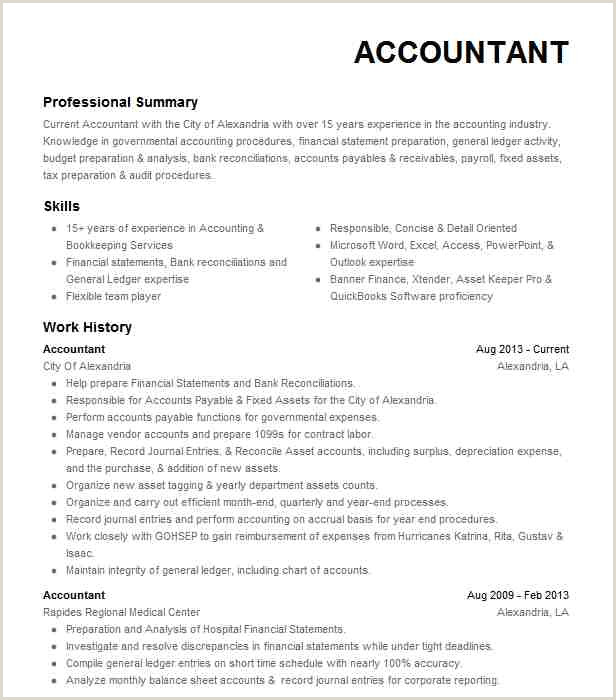 Professional Cv format In Ms Word for Accountant Eye Grabbing Accountant Resume Samples