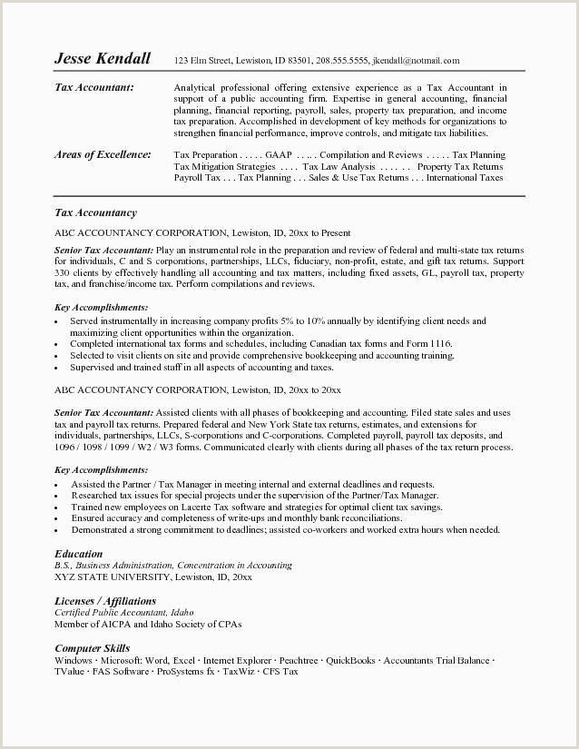 Sample Resume for Tax Accountant New Generic Flag Unique