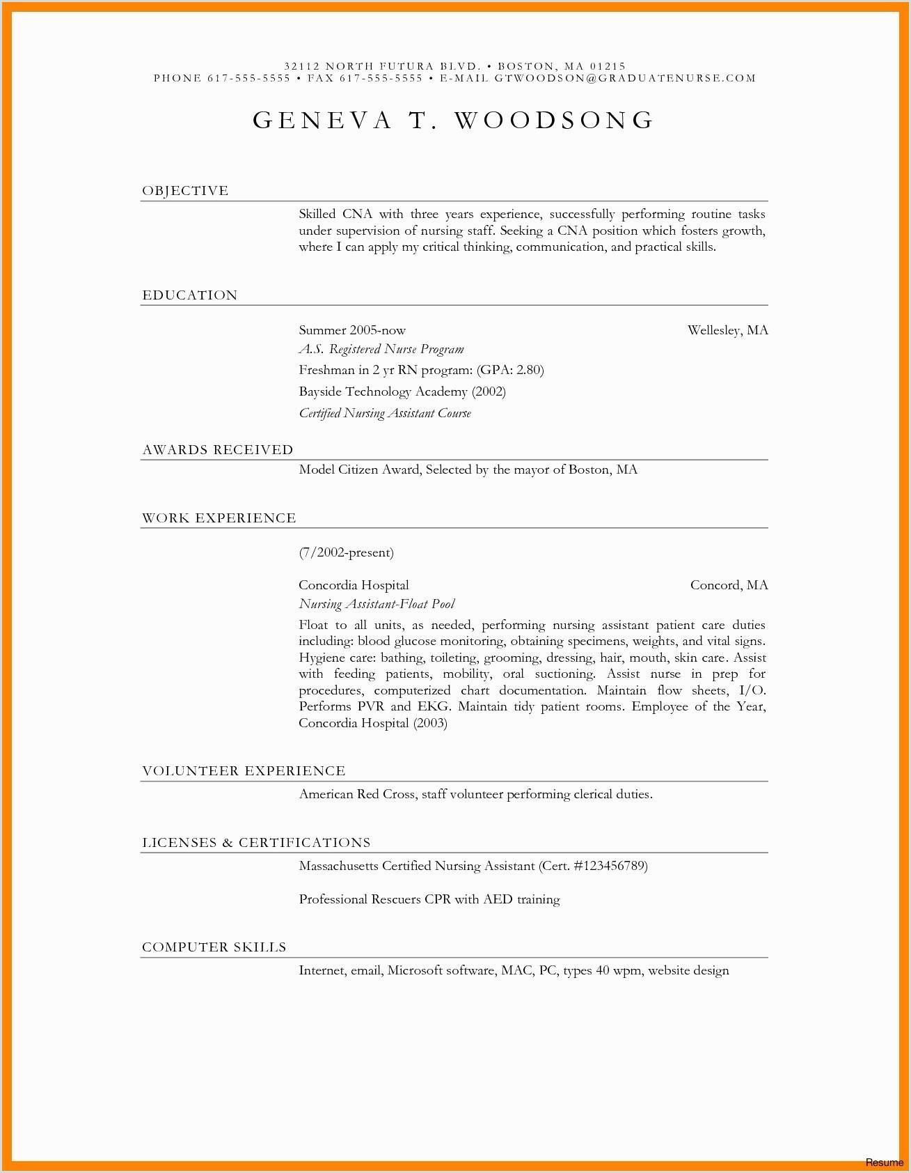 Type Cv Nouveau 45 Types Resume format Iulitte