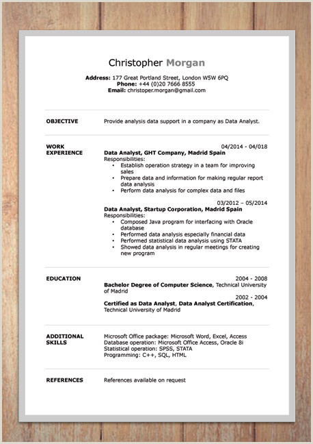 Professional Cv format In Ms Word Pdf Best Resume Proforma