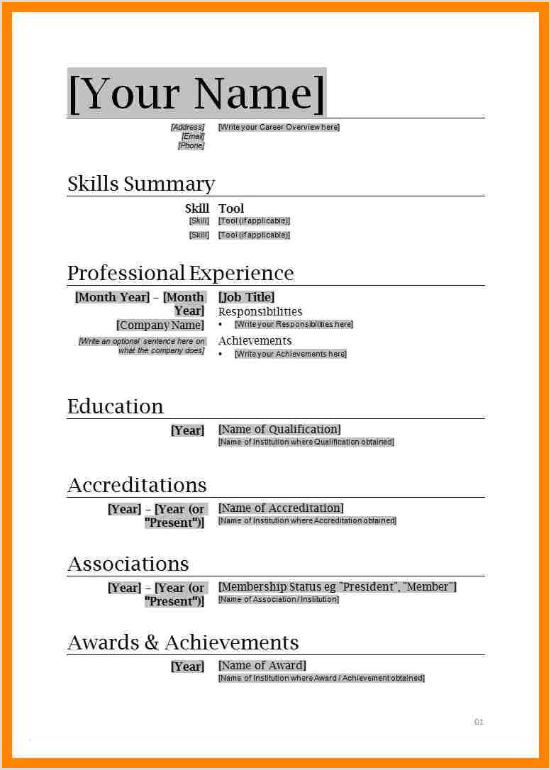 Professional Cv format In Ms Word with Photo Elegant Microsoft Word 2007 Resume Template