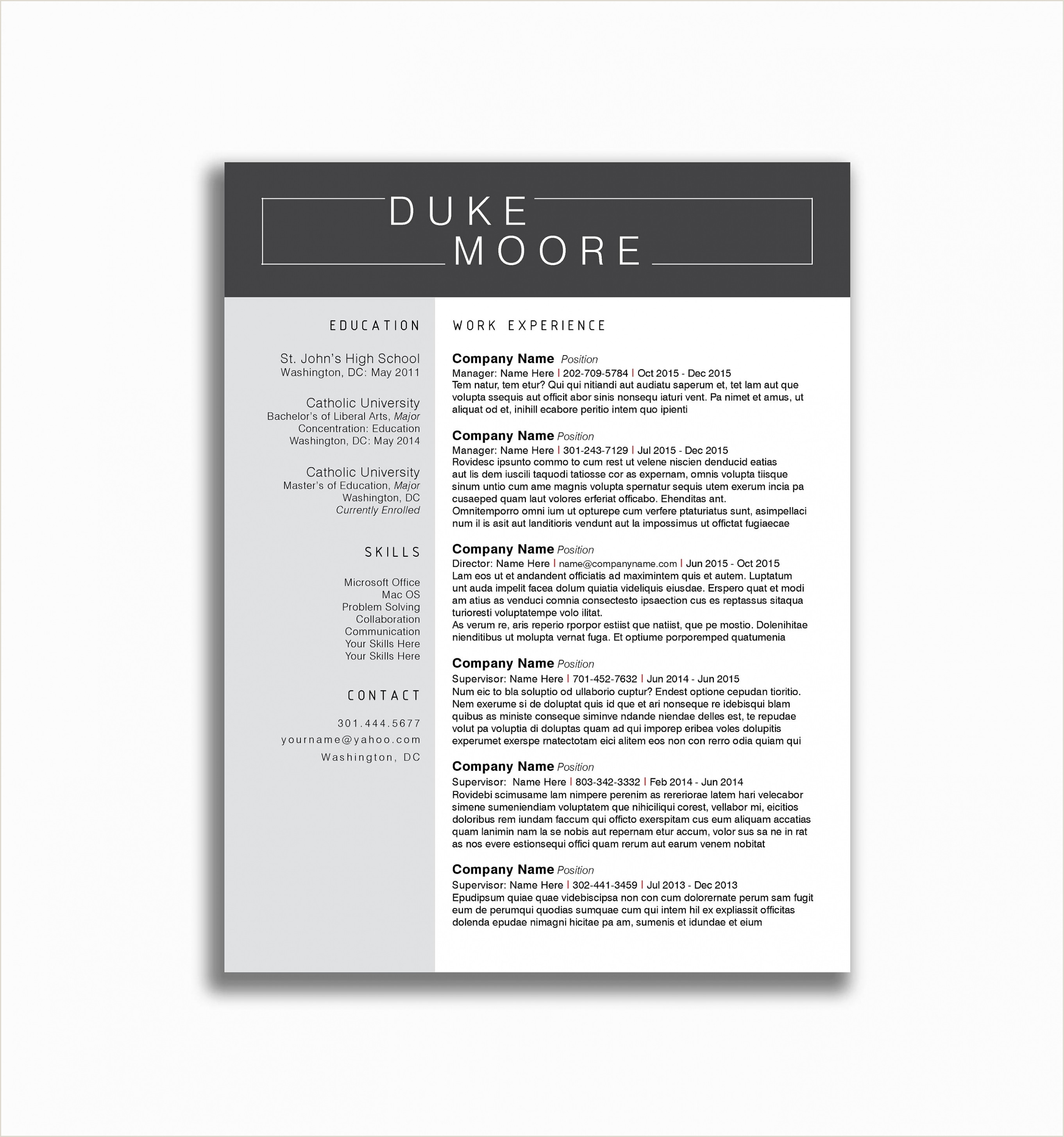 Professional Cv format In Ms Word with Photo Retail Sales Manager Resume Template Operations Templates