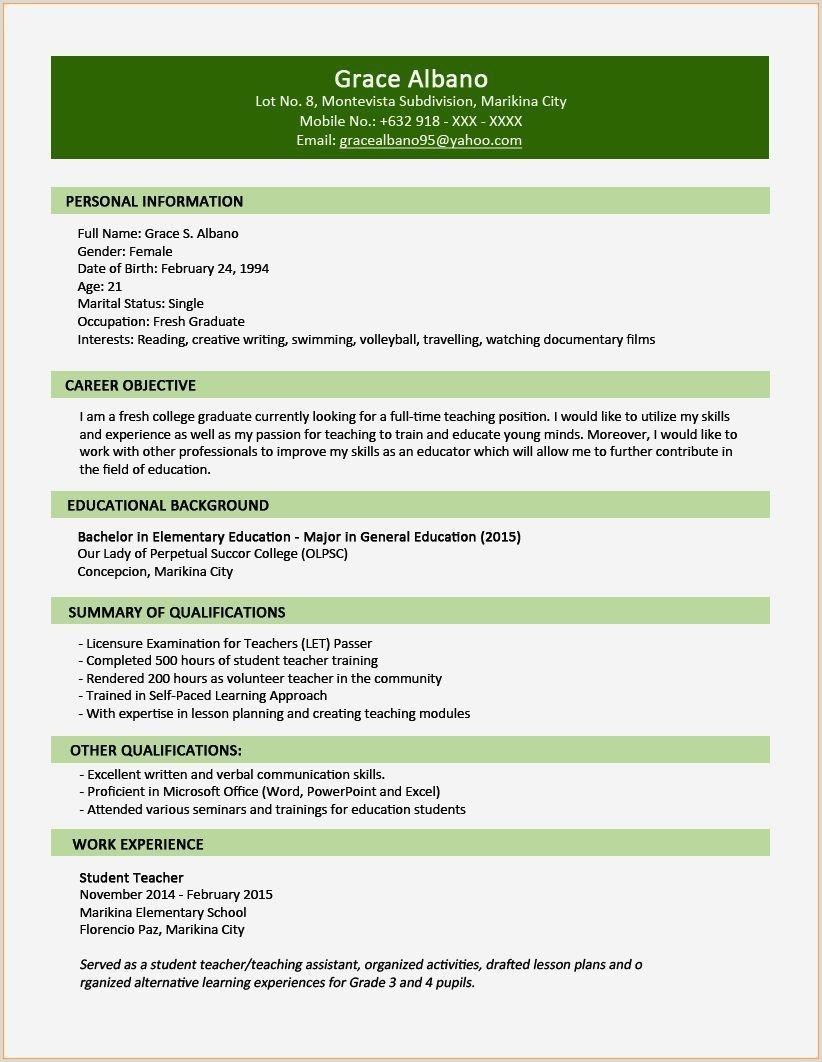 10 How to write Professional Cv Template Nigeria to Success