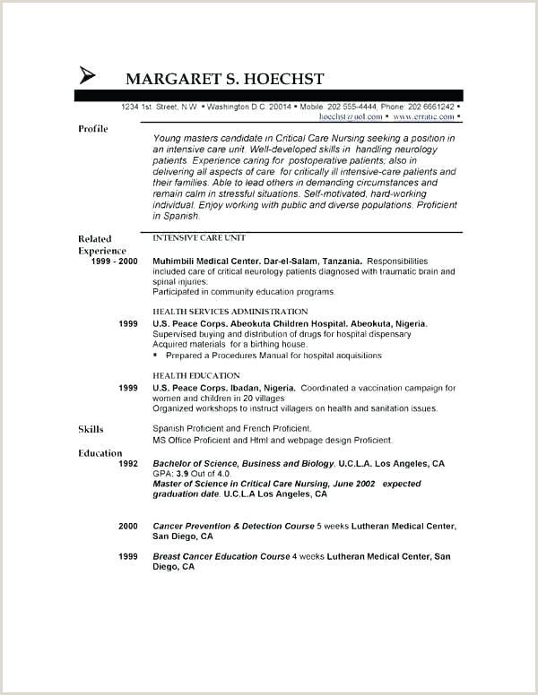 Short Resume Template Short Resume Template Short Job Cover