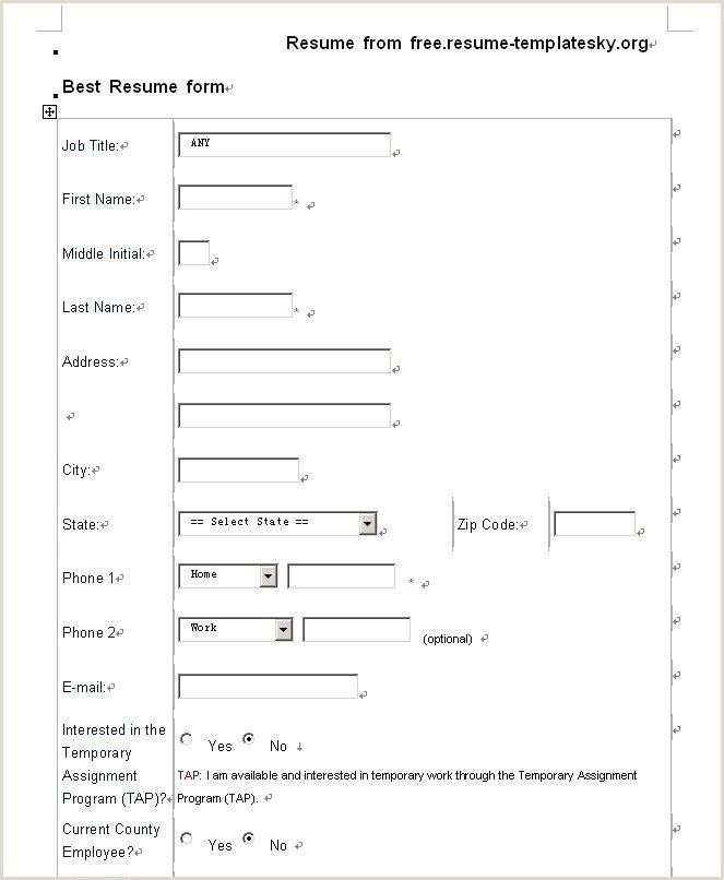 Resume Samples Pdf New Blank Resume Pdf Luxury Resume