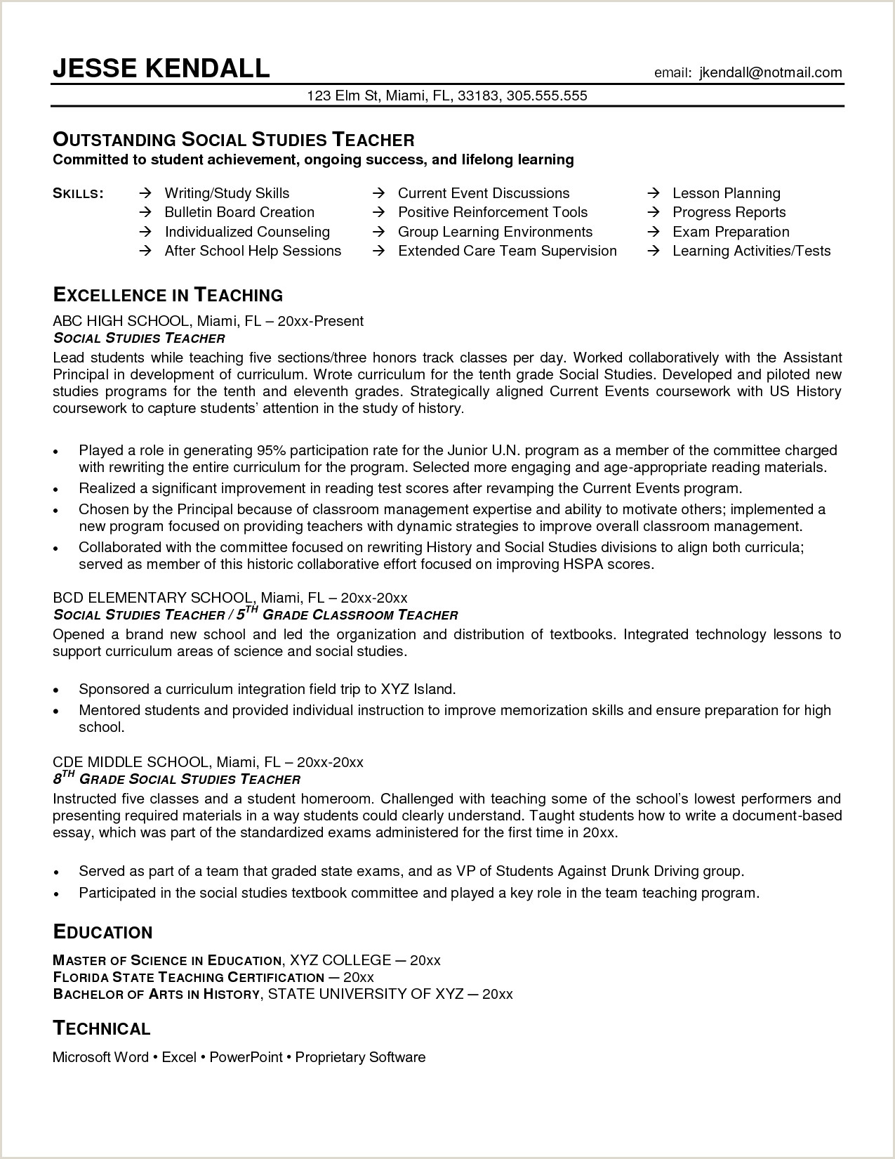 Professional Cv format Kenya History Teacher Sample Resume Google Search