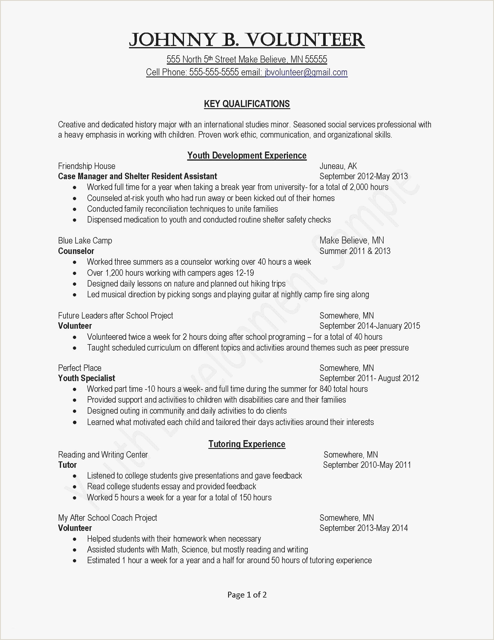 Free line Resume Cover Letter Template Examples