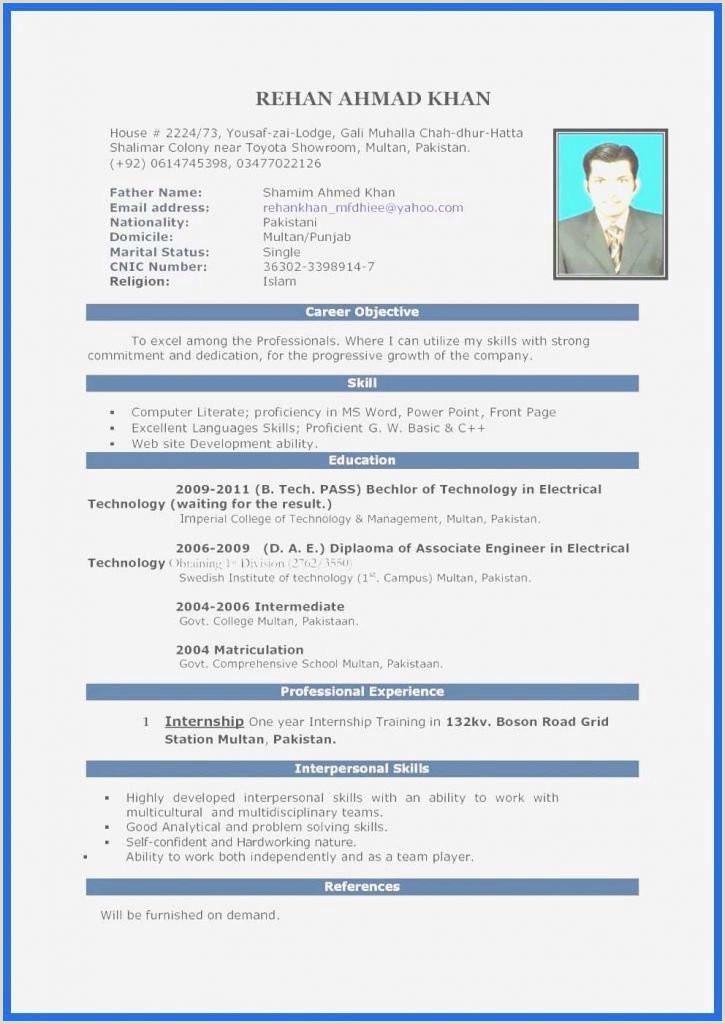 Professional Cv format Pakistani 45 De Base Cv Site Xenakisworld
