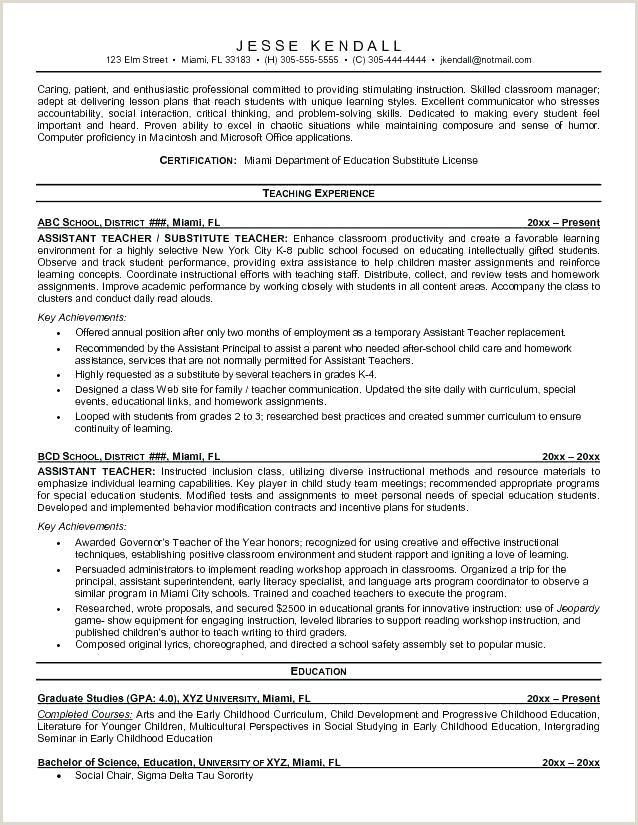 Resume Template For Teaching Job Cv In Pakistan Models