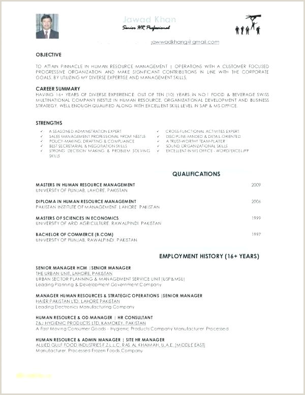 Professional Cv format Pakistani Resume with No Work Experience – Englishor