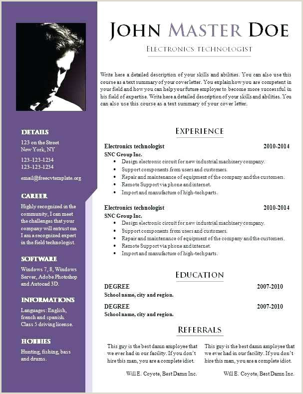 Free New Resume Templates It Resume Templates Examples Free