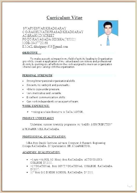 Professional Cv format Sri Lanka Best Curriculum Vitae Template
