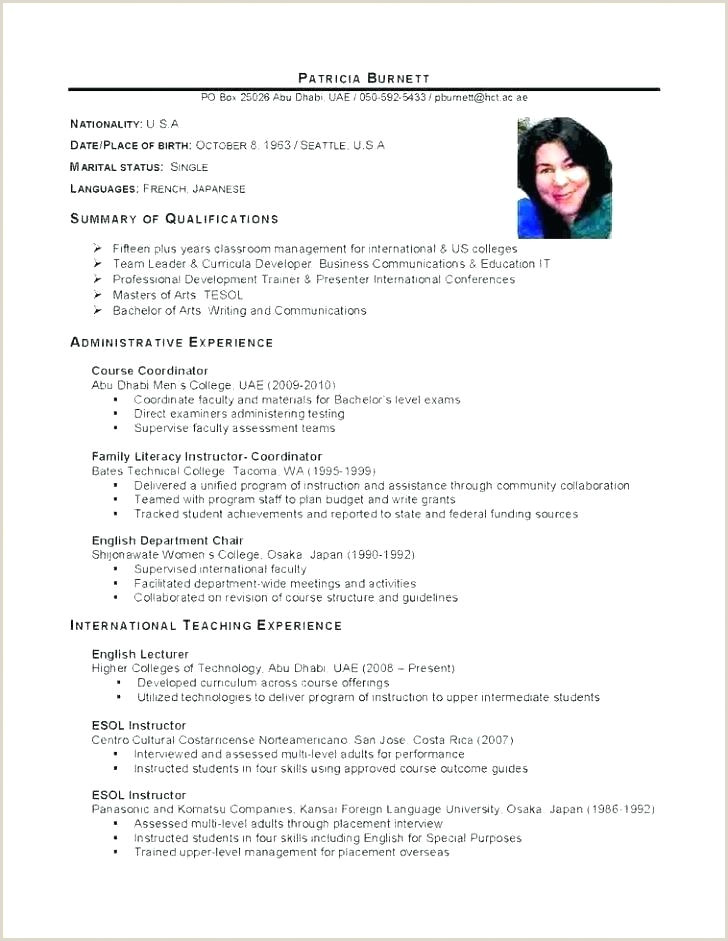Professional Cv format Sri Lanka Latex Curriculum Vitae Template Doc Standard format India