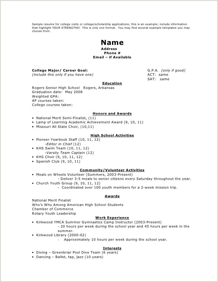 Professional Cv format Writing Modele Cv Collegien