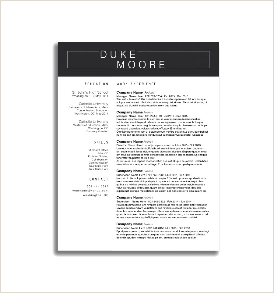 Professional Cv Sample Docx 4 Cv Template 2018 Uk