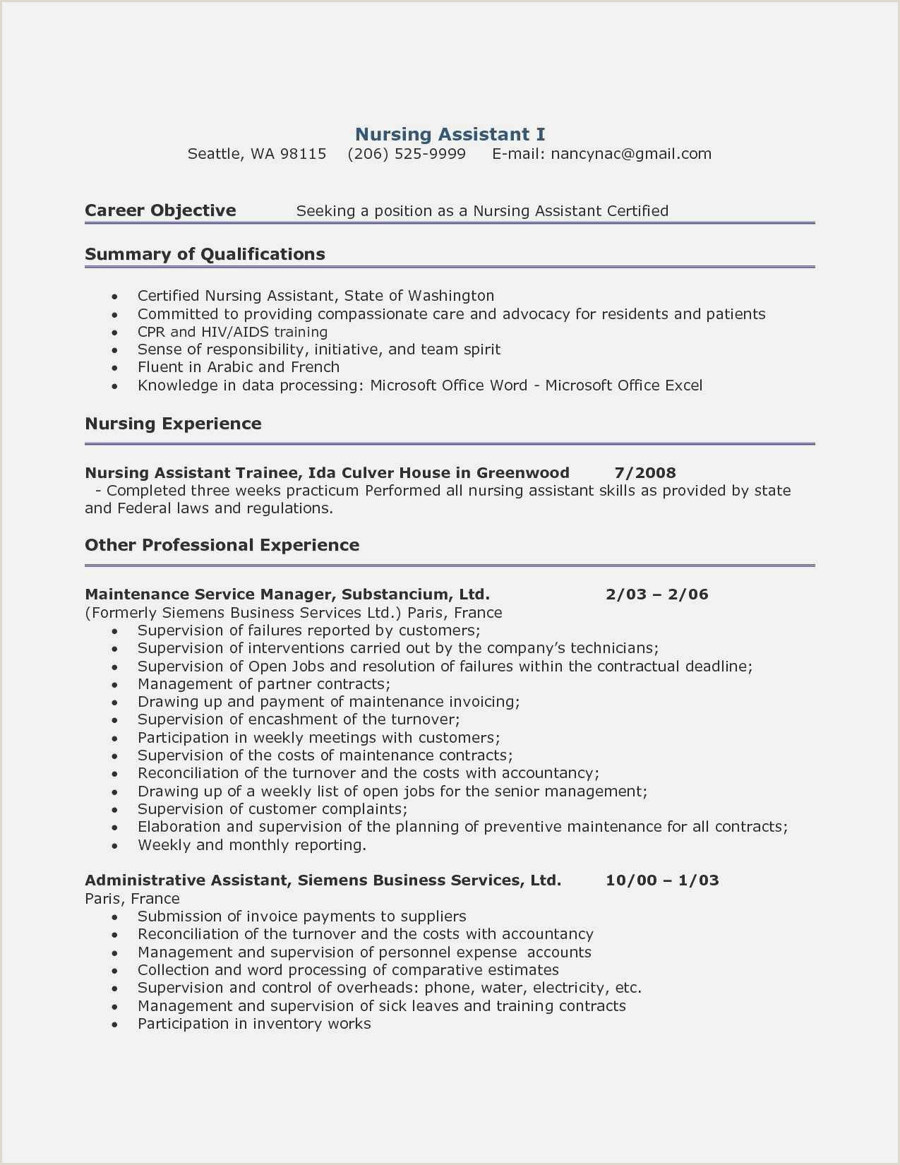 Download 59 Resume Template In Word Example