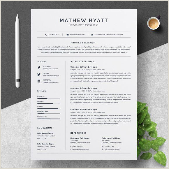 Resume Templates & Design Clean Resume CV Template