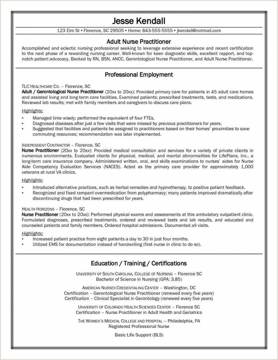 Best Nursing Resume Template Sample Student Guide For New Rn