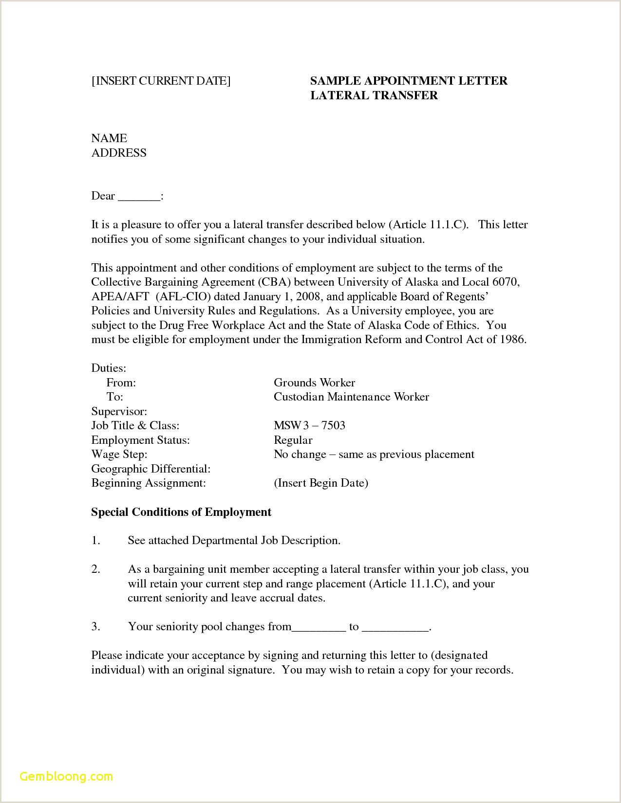 Employment Cover Letter Template Word Examples