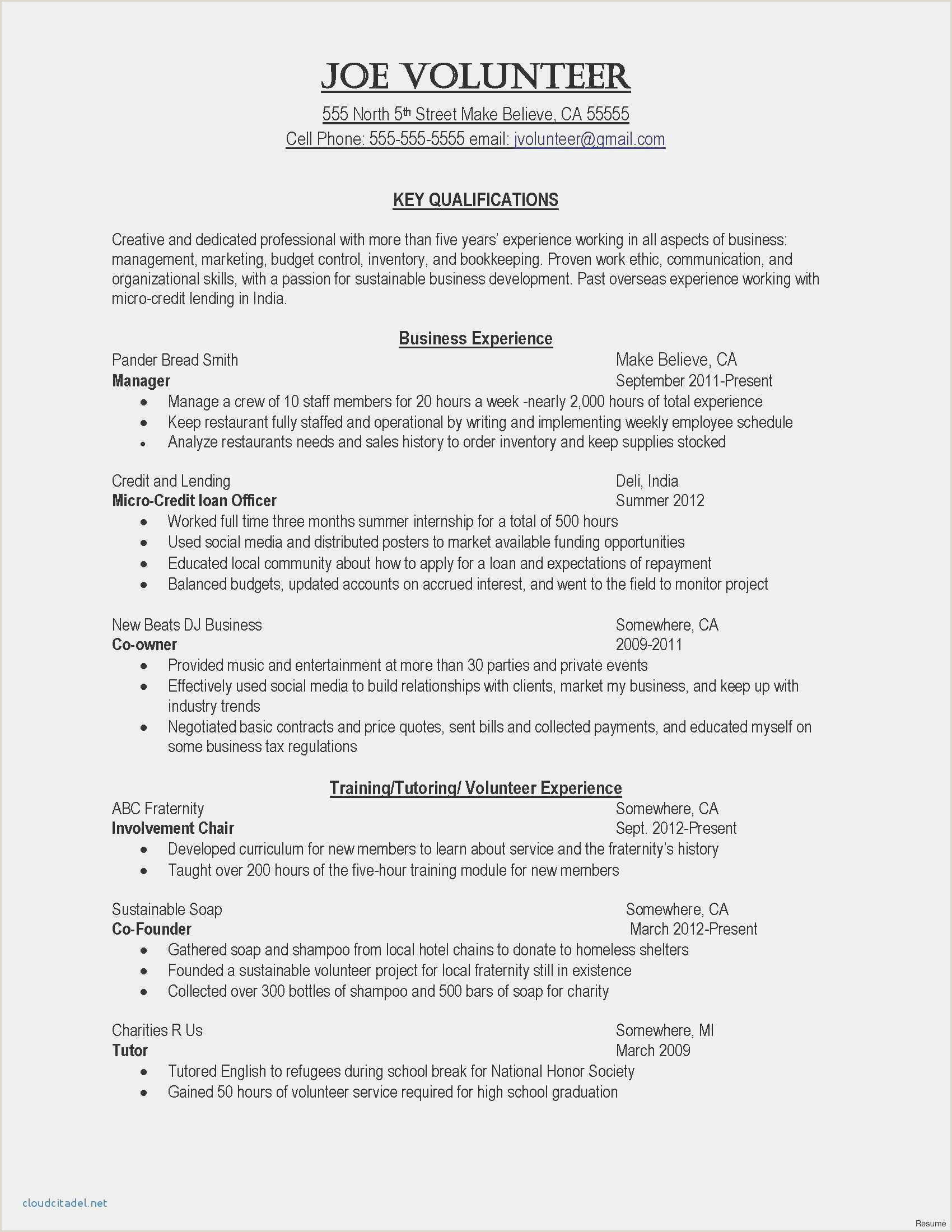 Free Download 51 Resume Layout Word Model