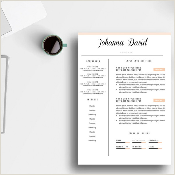 Cv template microsoft word professional resume template