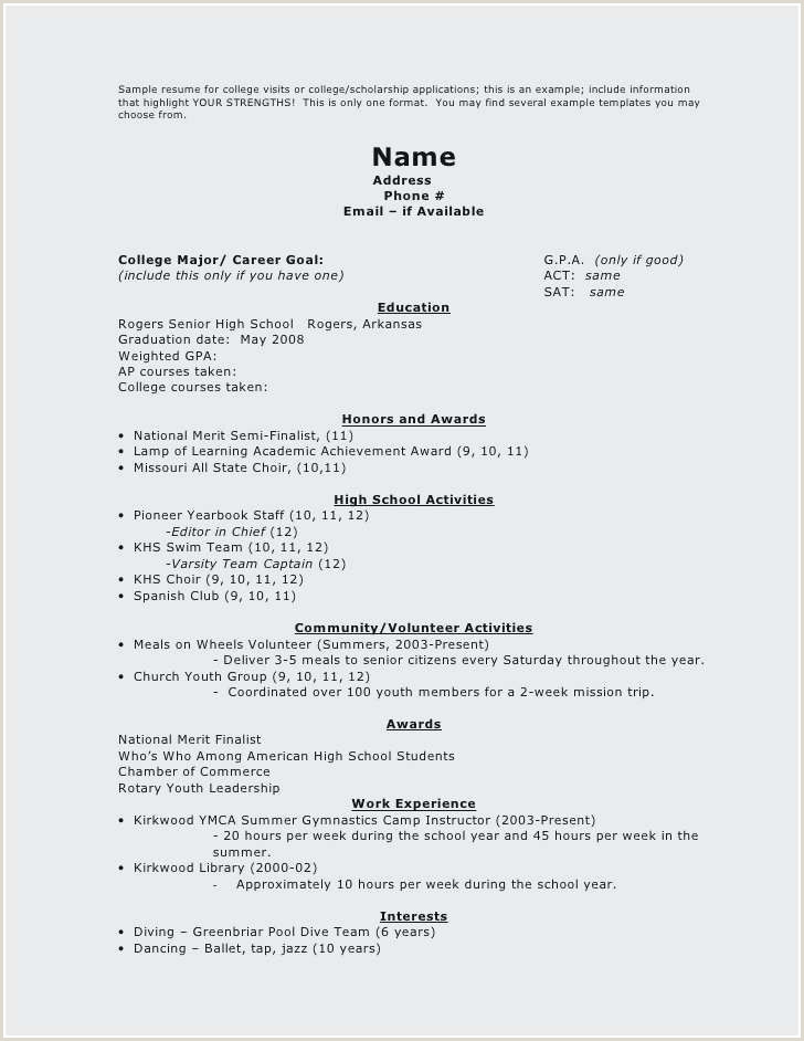 Professional Dance Resume Template Year 9 Resume Template – Salumguilher