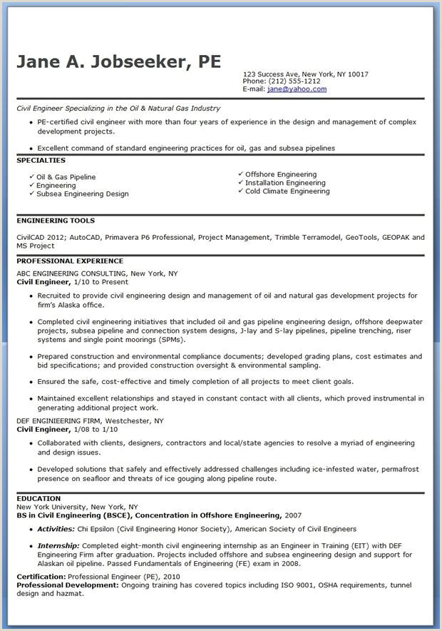 Professional Engineer Cv format Doc Civil Engineer Resume Template Experienced
