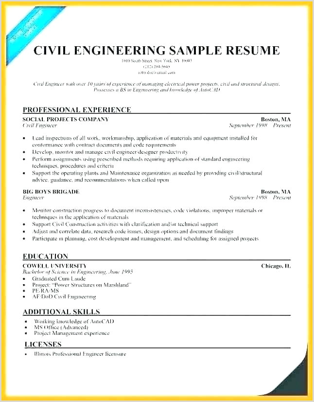Professional Engineer Cv format Doc Civil Engineering Resume Template Sample Professional