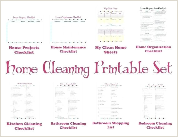 Professional House Cleaning Checklist Printable Home Cleaning Schedule Printable Professional House