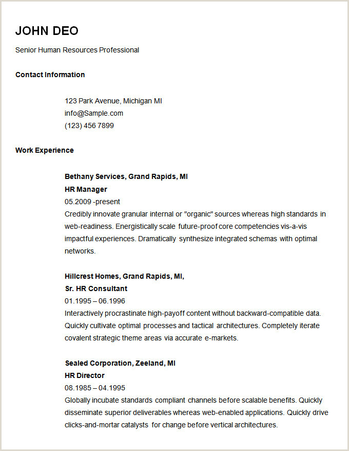 70 Basic Resume Templates PDF DOC PSD