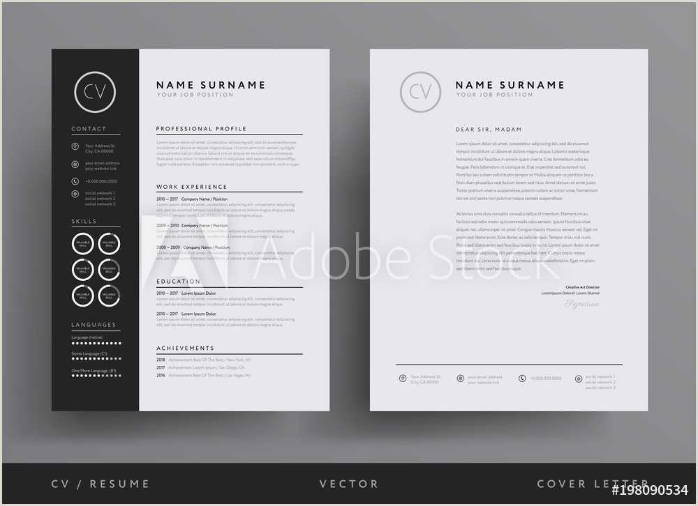 Fotografija Poster Professional CV resume template design