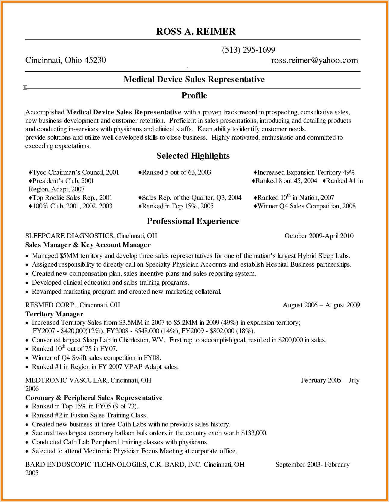 11 medical representative resume for fresher